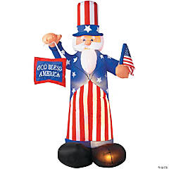 Airblown Light-Up Uncle Sam Decoration