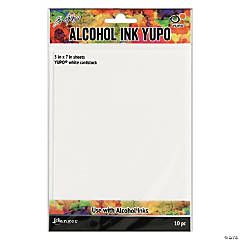 Alcohol Ink White Yupo Paper 10 Sheets
