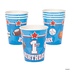All Star 1st Birthday Paper Cups