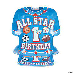 All Star 1st Birthday Paper Dinner Plates
