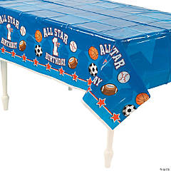 All Star 1st Birthday Plastic Tablecloth