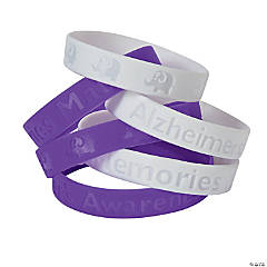 Alzheimer's Awareness Silicone Bracelets