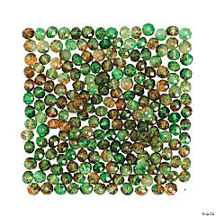Amber & Teal Prism Beads - 8mm