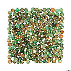 Amber Green Prism Beads - 8mm