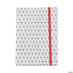 American Crafts™ Adult Coloring Elastic Geometric Notebook