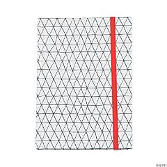 American Crafts™ Adult Coloring Elastic Geometric Notebook
