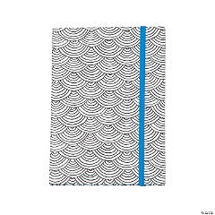 American Crafts™ Adult Coloring Elastic Scallop Notebook