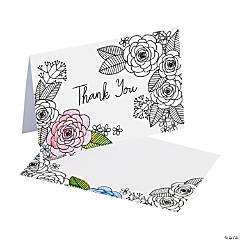American Crafts™ Adult Coloring Floral Thank You Cards