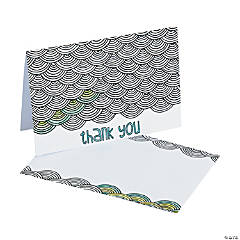 American Crafts™ Adult Coloring Swirl Thank You Cards