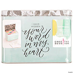 American Crafts Creative Devotion Tin Scripture Memory Library Box/Divider