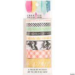 American Crafts Creative Devotion Washi Tape 5yd Rolls 8/Pkg-#3