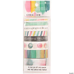 American Crafts Creative Devotion Washi Tape 5yd Rolls 8/Pkg-#4