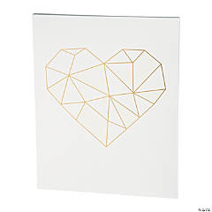 American Crafts™ Geometric Heart Watercolor Panel