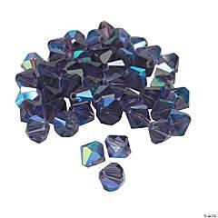 Amethyst Aurora Borealis Crystal Bicone Beads - 8mm