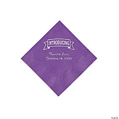 Amethyst Introducing Personalized Napkins with Silver Foil - Beverage