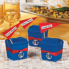 Anchors Away! Takeout Boxes Idea
