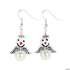 Angel Snowman Earrings Craft Kit