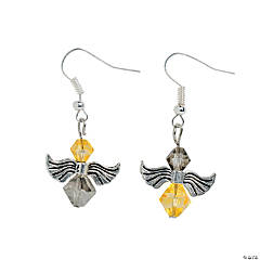 Angel Wings Beaded Earrings Idea