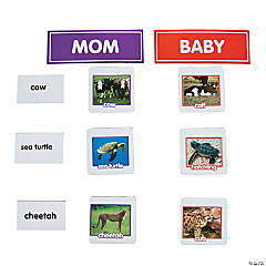 Animal Adult & Baby Sorting Magnets