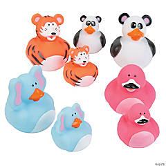 Animal Mom & Baby Rubber Duckies