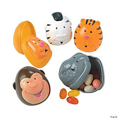 Animal Plastic Easter Eggs