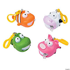 Animal Zipper Mouth Key Chains