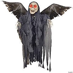 Animated Winged Reaper Halloween Décor