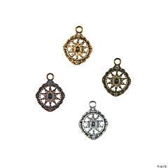 Antique Flower Medallion Charms