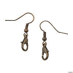 Antique Goldtone Clasp Earrings
