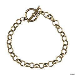 Antique Goldtone Toggle Chain Bracelets