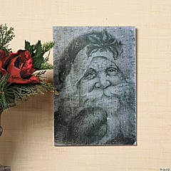 Antiqued Santa Wall Sign