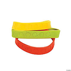 Apple Rubber Bracelets