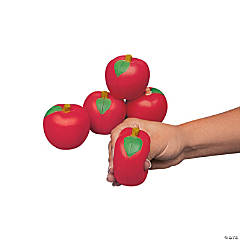 Apple-Shaped Stress Toys