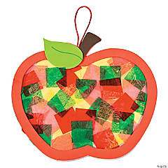 Apple Tissue Paper Sign Craft Kit