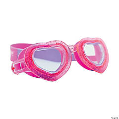 Aqua2ude Glitter Heart Swim Goggles