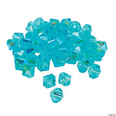 Aquamarine Aurora Borealis Crystal Bicone Beads - 8mm