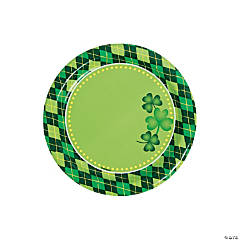 Argyle St. Patrick's Day Dessert Paper Plates