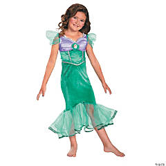 Ariel Sparkle Classic Costume For Girls