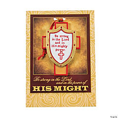 Armor of God Christmas Ornaments on Card