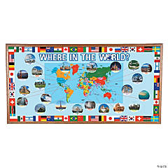 Around the World Bulletin Board Set