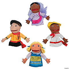 Around the World Happy Kids Plush Hand Puppets Set 1