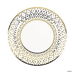 Art Deco Paper Dinner Plates