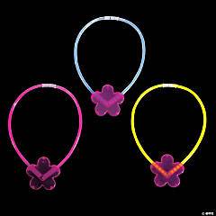 Assorted Flower Premium Glow Necklaces