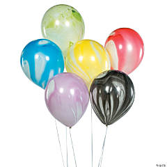 "Assorted Marble 11"" Latex Balloons"