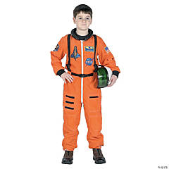 Astronaut Suit Orange Costume for Kids
