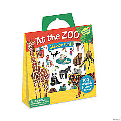 At The Zoo Reusable Sticker Tote