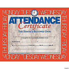 Attendance Certificate, 30 per Pack, 6 Packs