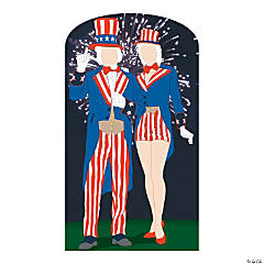 Aunt & Uncle Sam Cardboard Stand-In Stand-Up