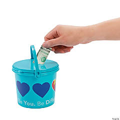 Autism Awareness Donation Buckets