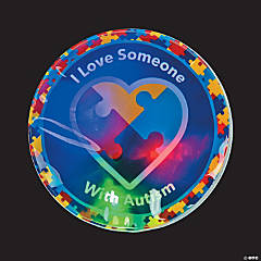 Autism Awareness Light-Up Sticker Badges